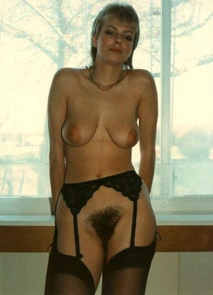 Ретро-фото с волосатыми кисками